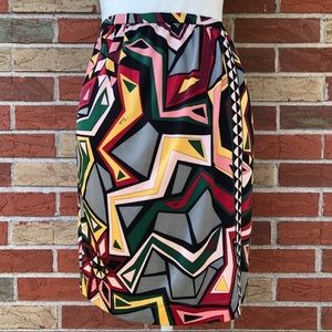 ☀️ Emilio Pucci Silk Abstract Wrap Skirt